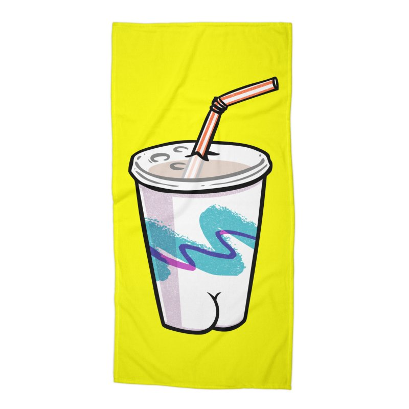 Soda Cup Butt Accessories Beach Towel by Brian Cook