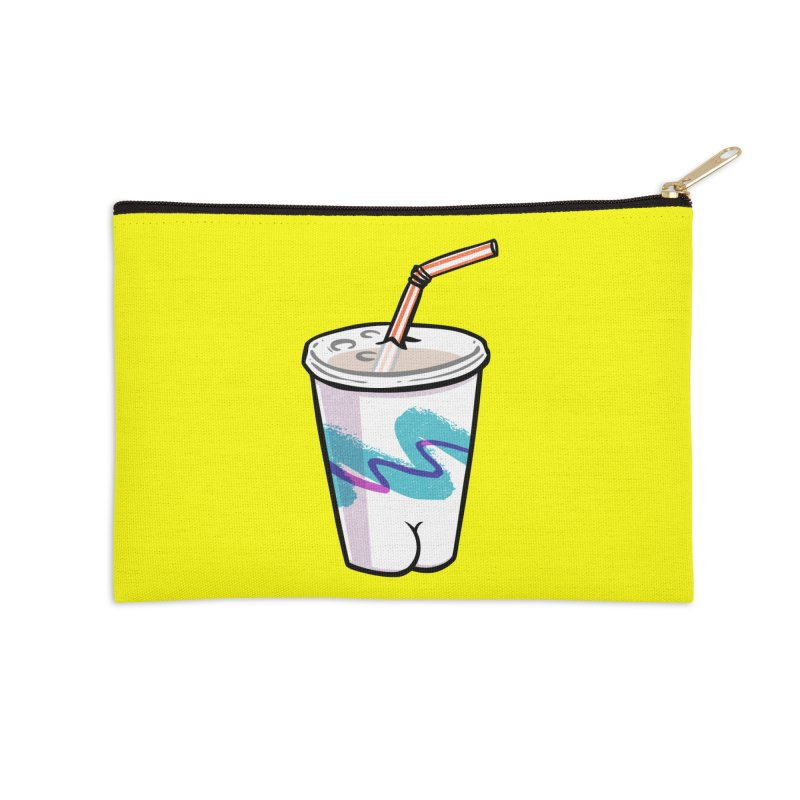 Soda Cup Butt Accessories Zip Pouch by Brian Cook