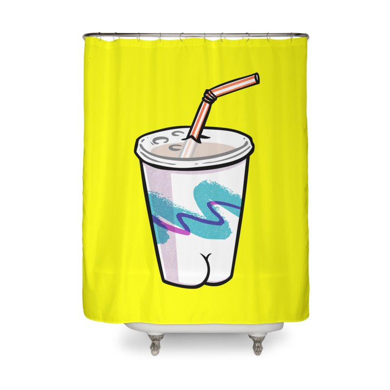 Soda Cup Butt Home Shower Curtain by Brian Cook
