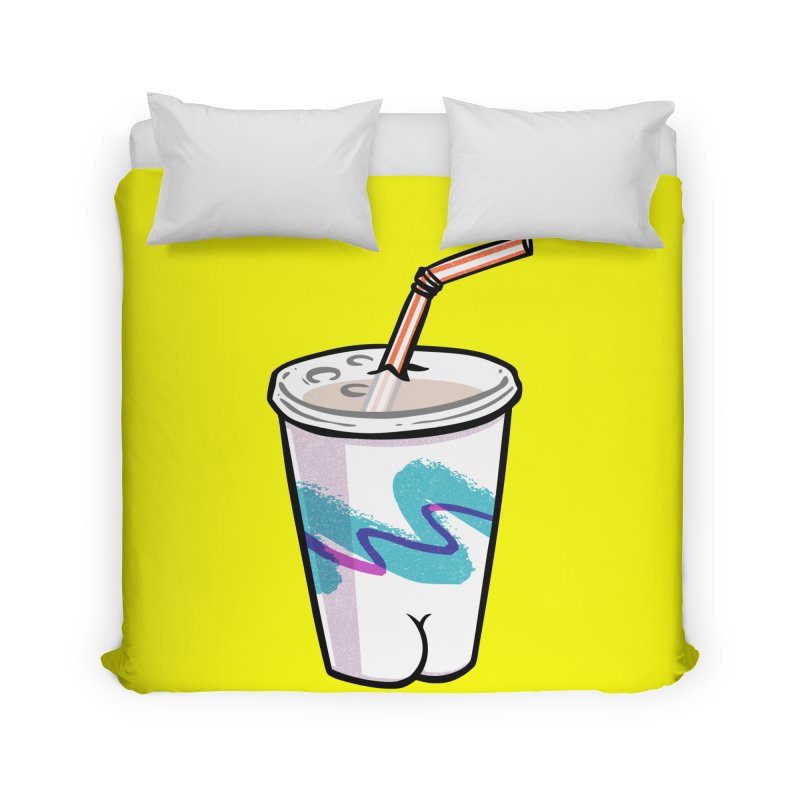 Soda Cup Butt Home Duvet by Brian Cook