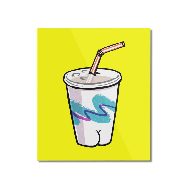 Soda Cup Butt Home Mounted Acrylic Print by Brian Cook