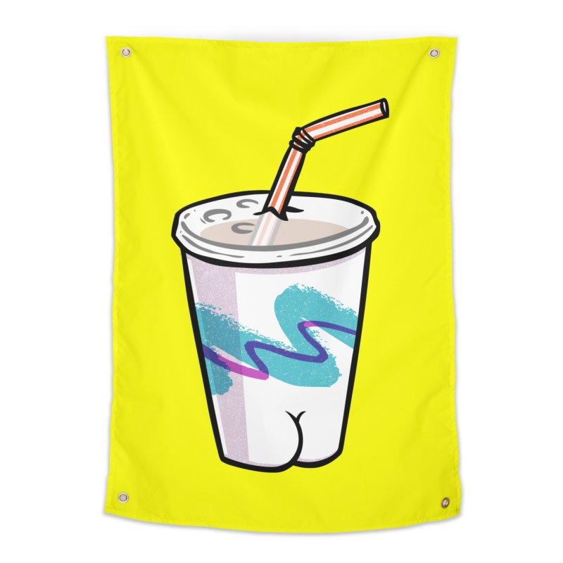 Soda Cup Butt Home Tapestry by Brian Cook