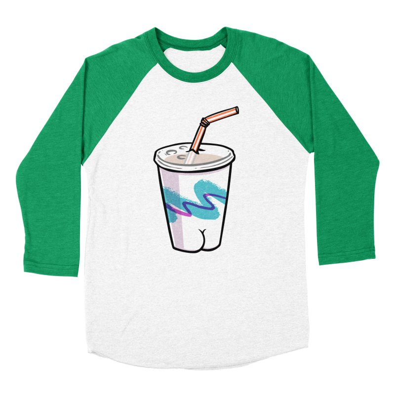 Soda Cup Butt Women's Baseball Triblend T-Shirt by Brian Cook