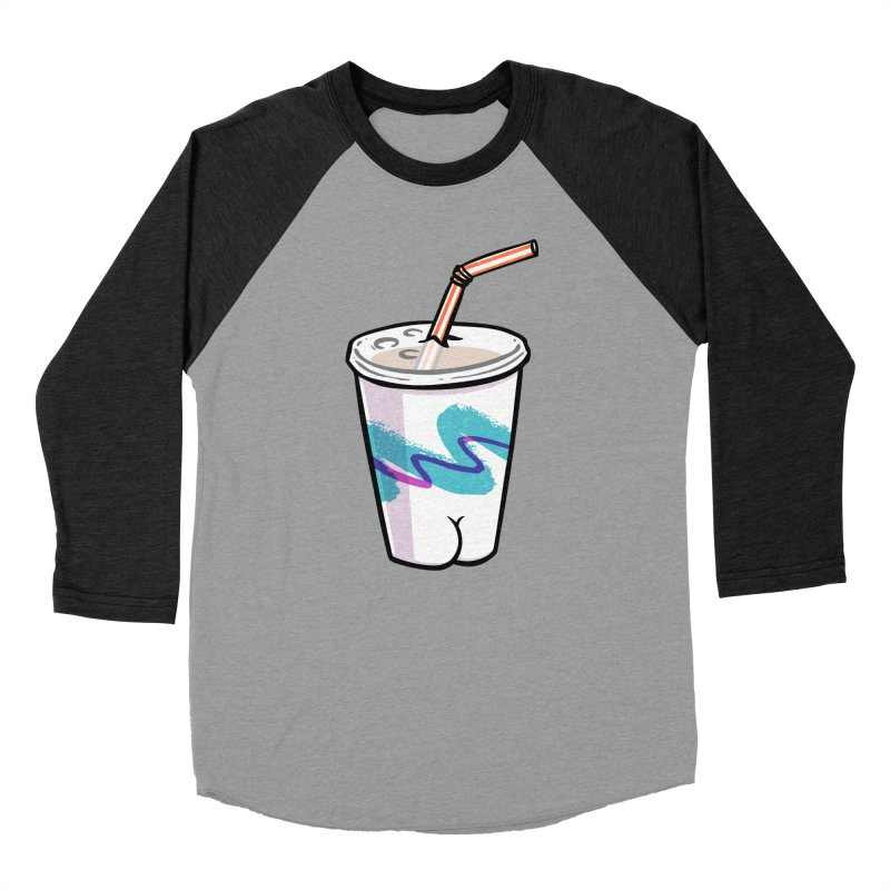 Soda Cup Butt Men's Baseball Triblend T-Shirt by Brian Cook