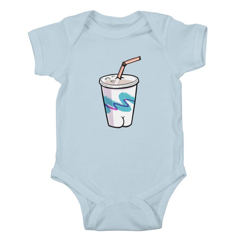 Soda Cup Butt Kids Baby Bodysuit by Brian Cook