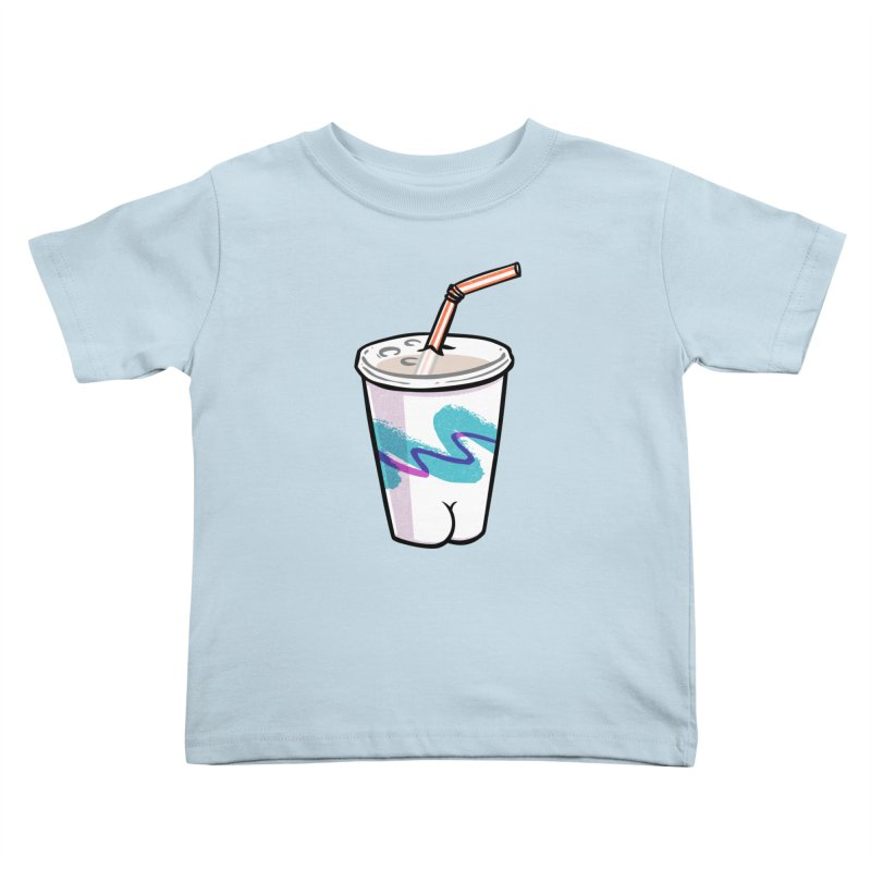 Soda Cup Butt Kids Toddler T-Shirt by Brian Cook