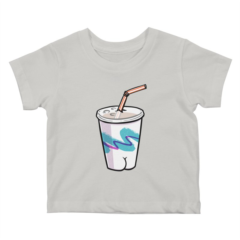 Soda Cup Butt Kids Baby T-Shirt by Brian Cook
