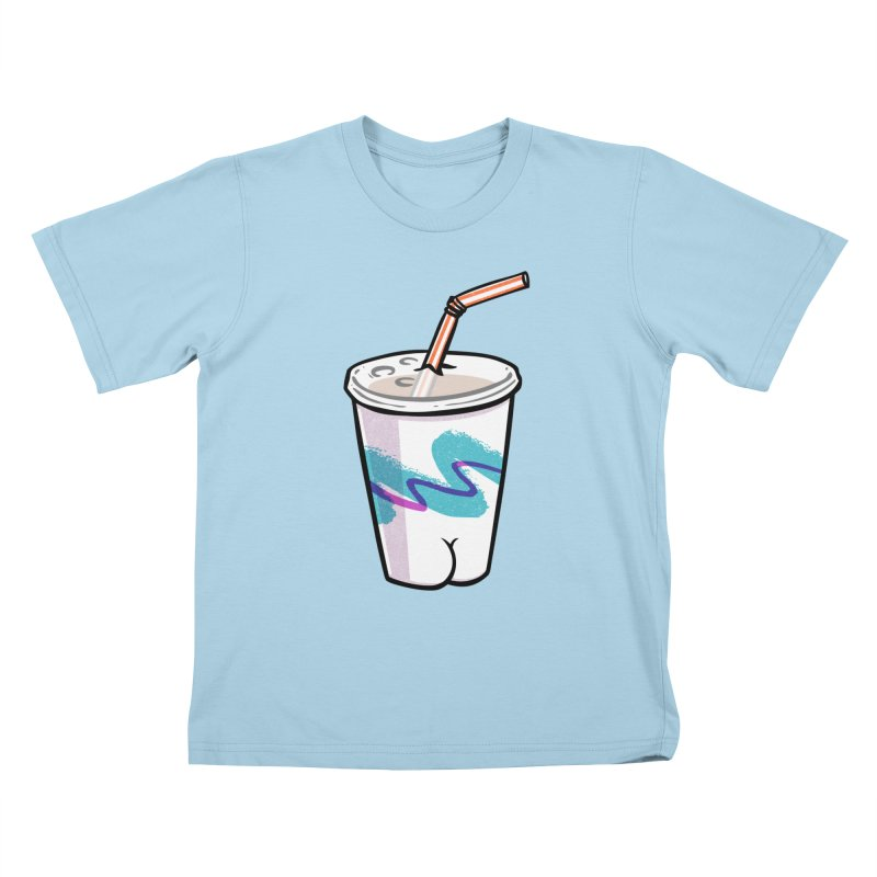 Soda Cup Butt Kids T-Shirt by Brian Cook