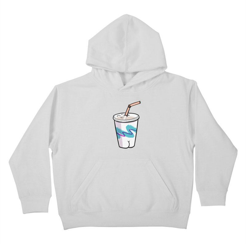 Soda Cup Butt Kids Pullover Hoody by Brian Cook