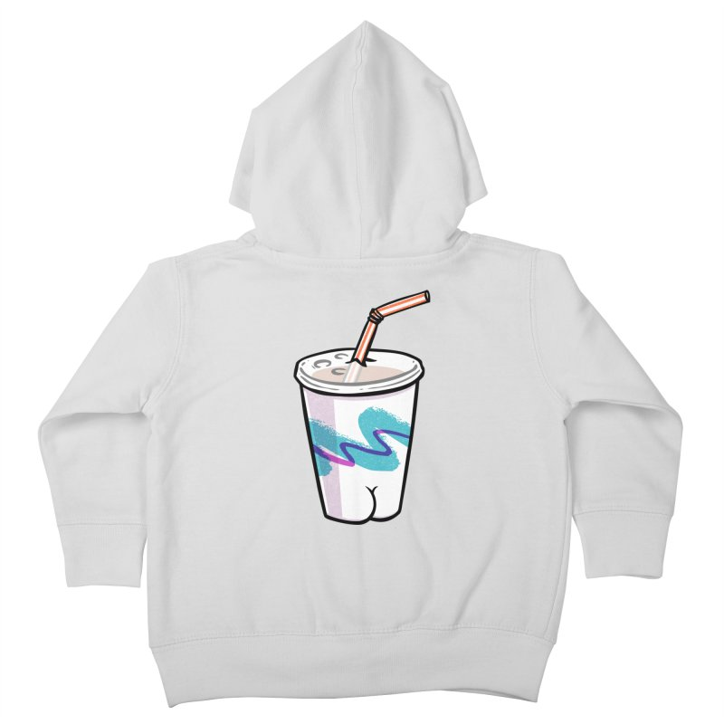 Soda Cup Butt Kids Toddler Zip-Up Hoody by Brian Cook