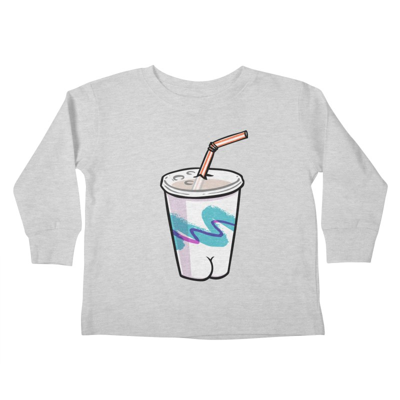 Soda Cup Butt Kids Toddler Longsleeve T-Shirt by Brian Cook