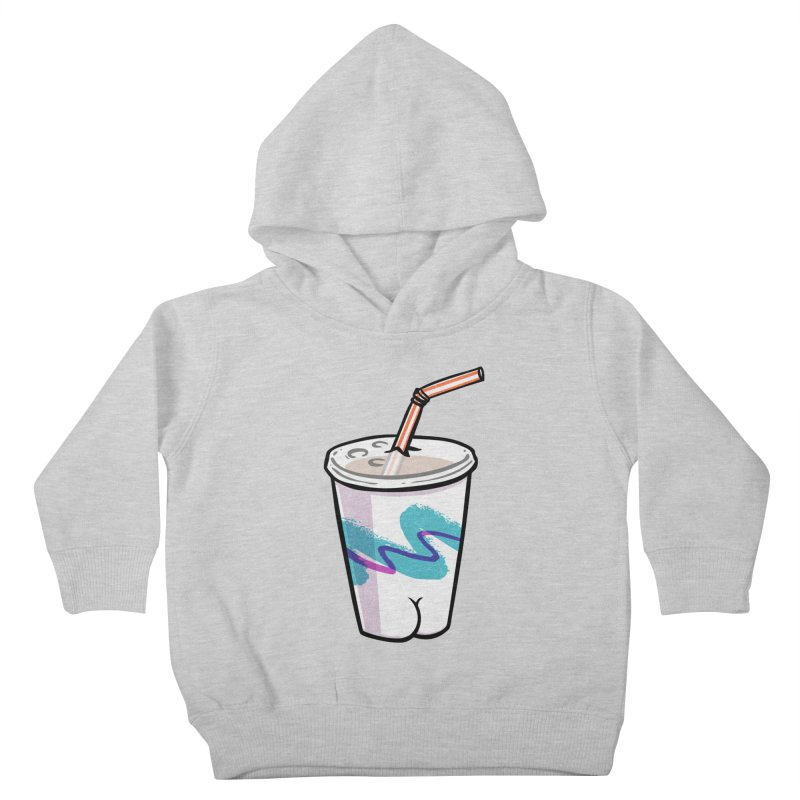 Soda Cup Butt Kids Toddler Pullover Hoody by Brian Cook