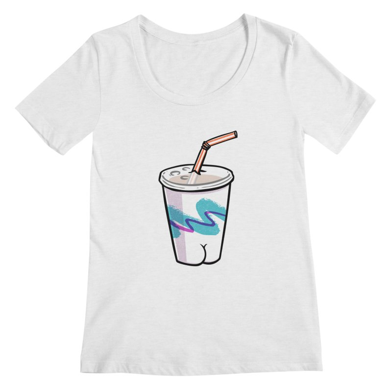 Soda Cup Butt Women's Scoopneck by Brian Cook