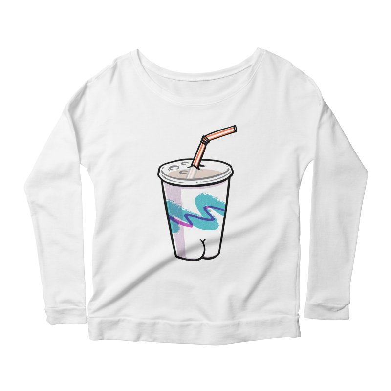 Soda Cup Butt Women's Longsleeve Scoopneck  by Brian Cook