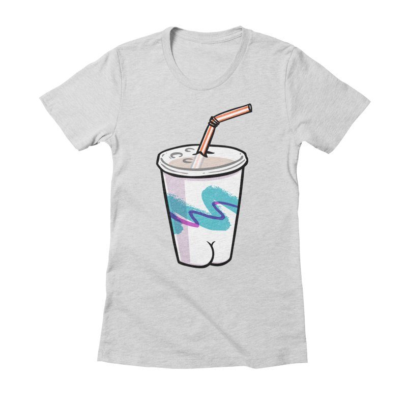 Soda Cup Butt Women's Fitted T-Shirt by Brian Cook