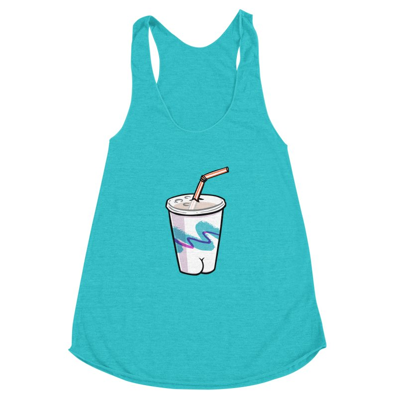 Soda Cup Butt Women's Racerback Triblend Tank by Brian Cook
