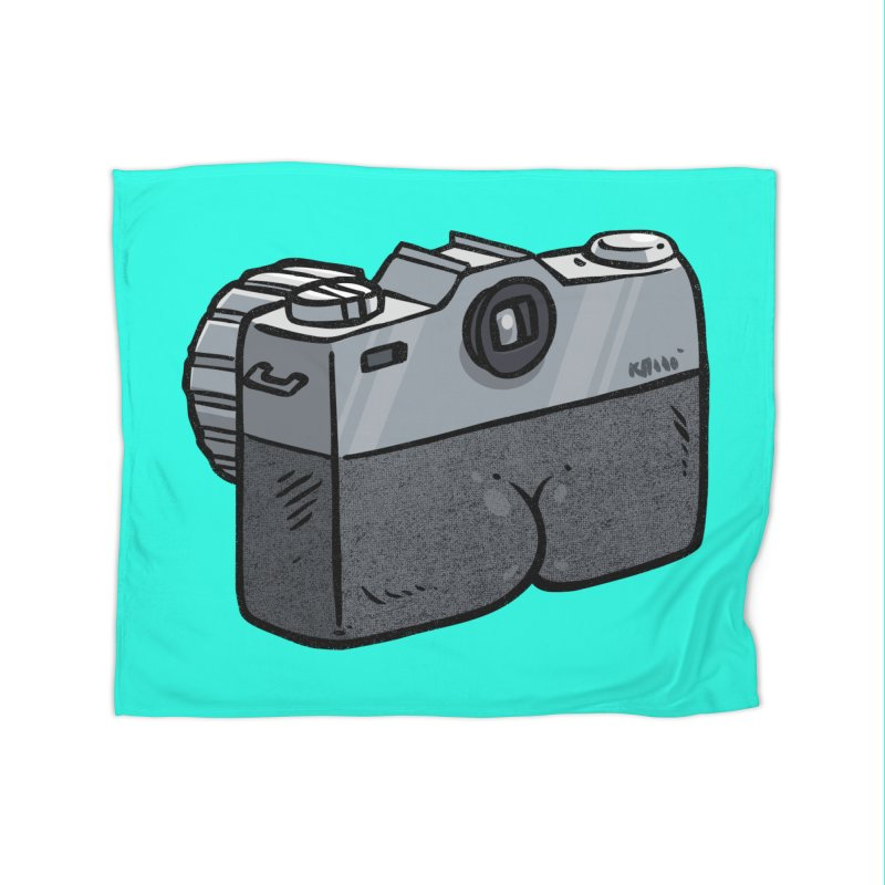 Camera Butt Home Blanket by Brian Cook