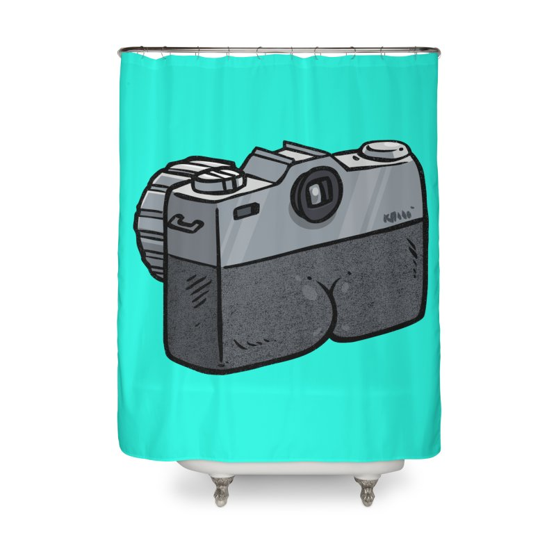 Camera Butt Home Shower Curtain by Brian Cook