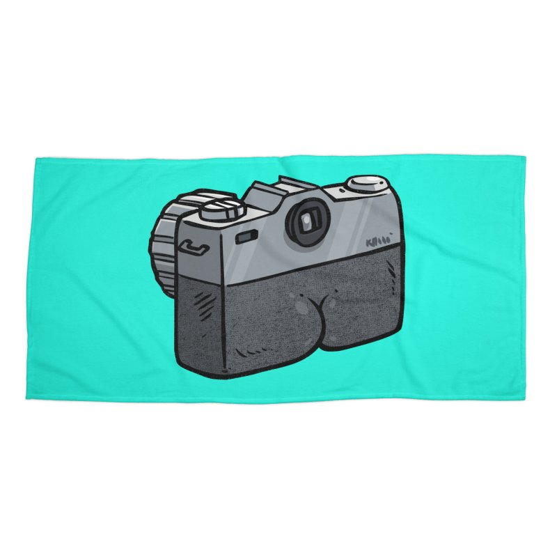 Camera Butt Accessories Beach Towel by Brian Cook