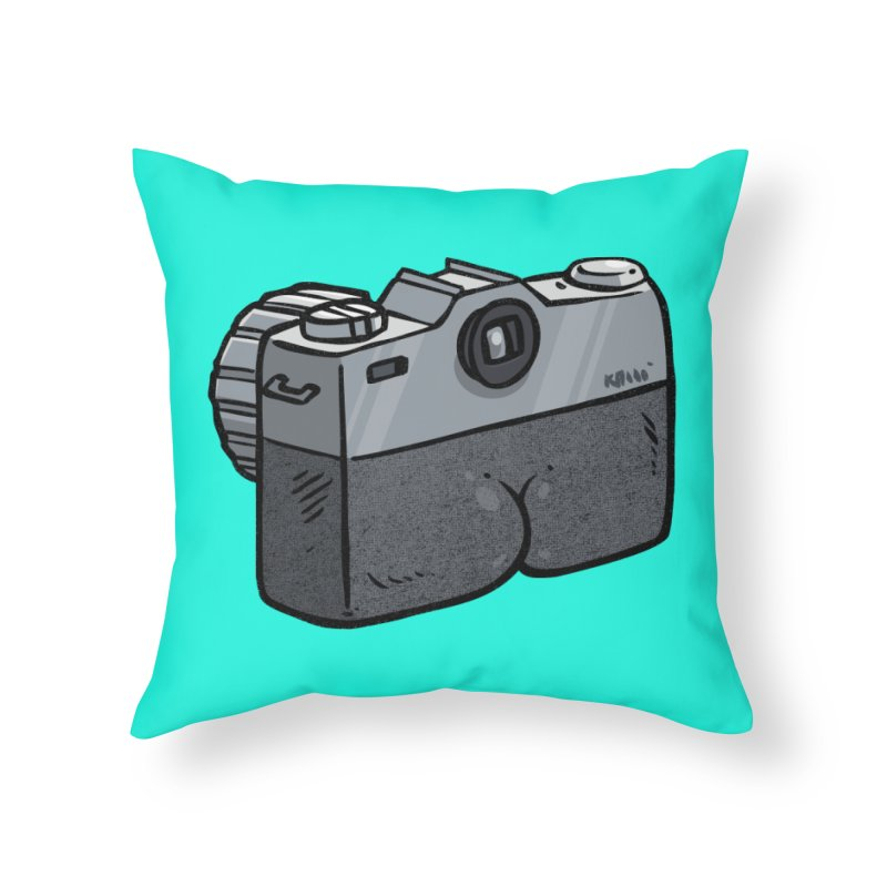 Camera Butt Home Throw Pillow by Brian Cook