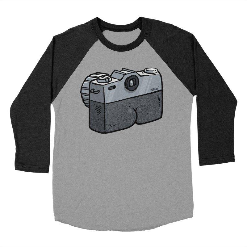 Camera Butt Women's Baseball Triblend T-Shirt by Brian Cook