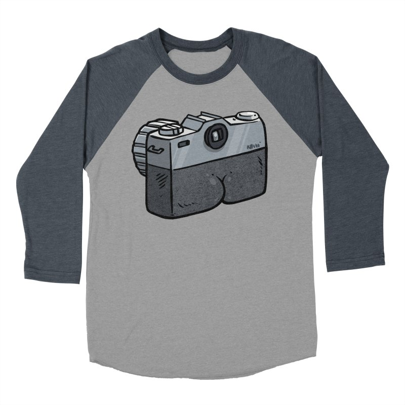 Camera Butt Men's Baseball Triblend T-Shirt by Brian Cook