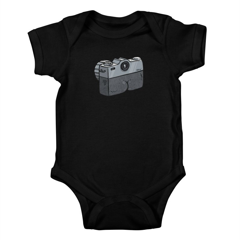 Camera Butt Kids Baby Bodysuit by Brian Cook