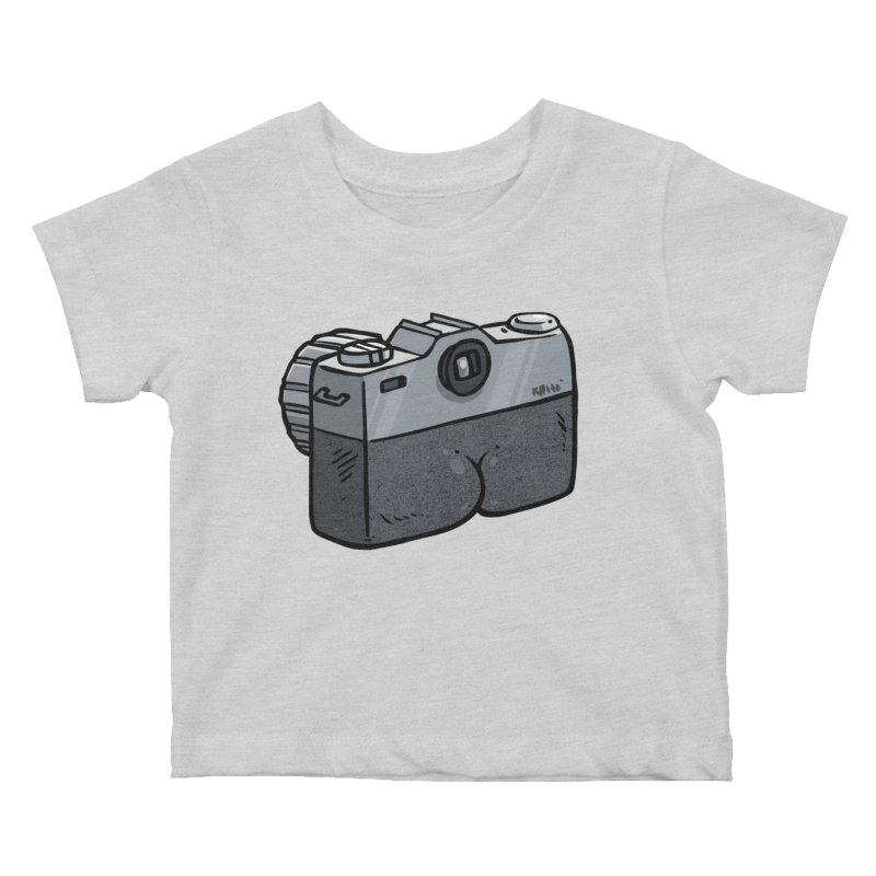 Camera Butt Kids Baby T-Shirt by Brian Cook
