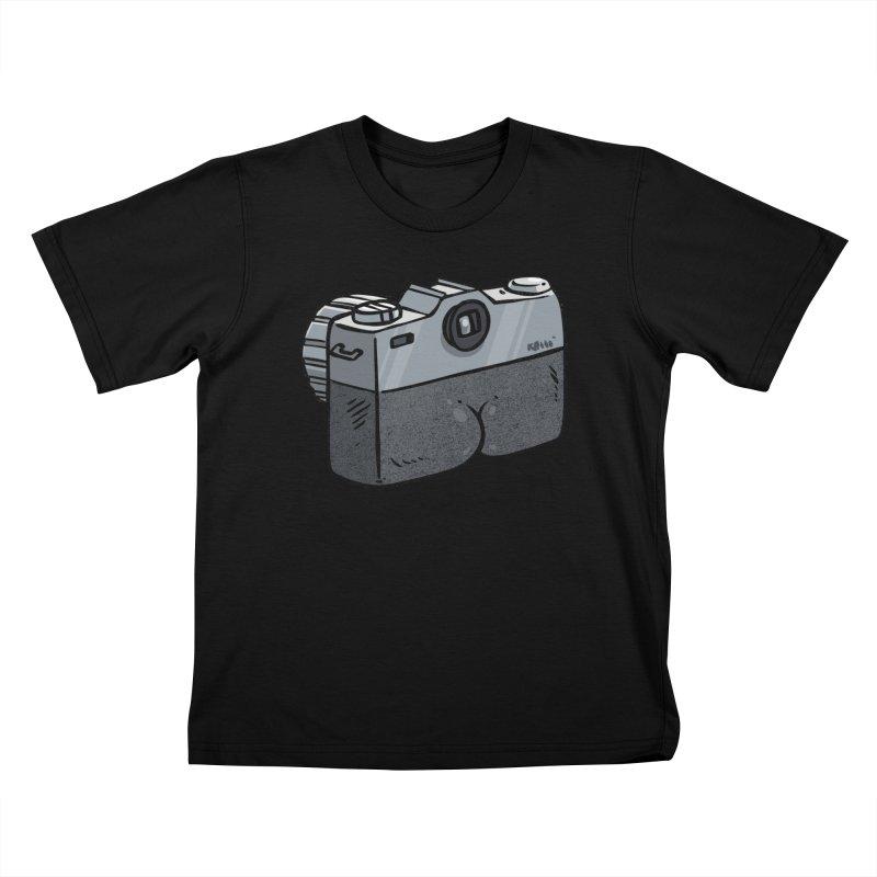 Camera Butt Kids T-Shirt by Brian Cook
