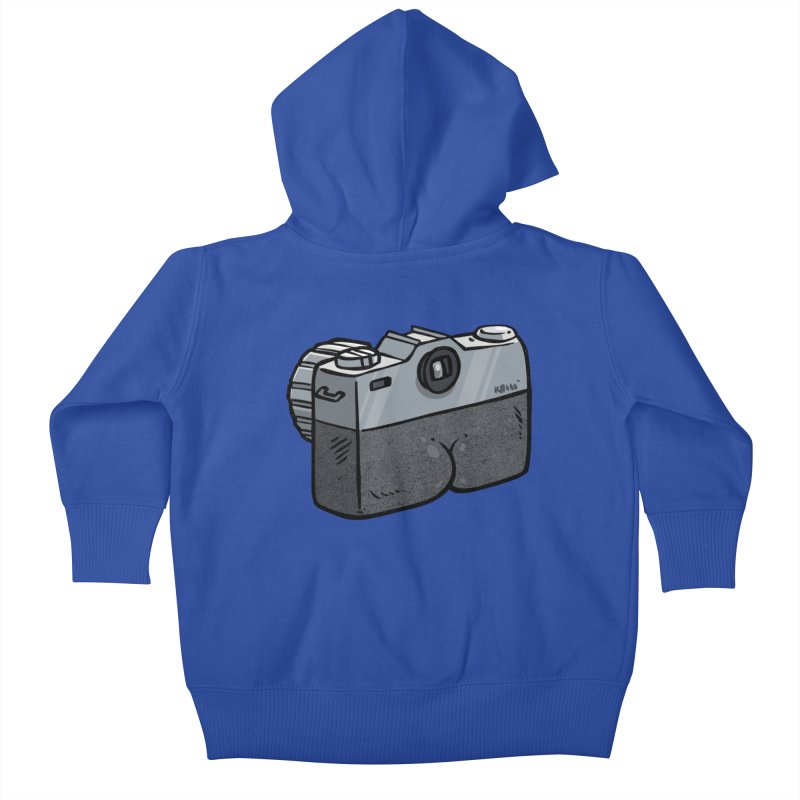 Camera Butt Kids Baby Zip-Up Hoody by Brian Cook