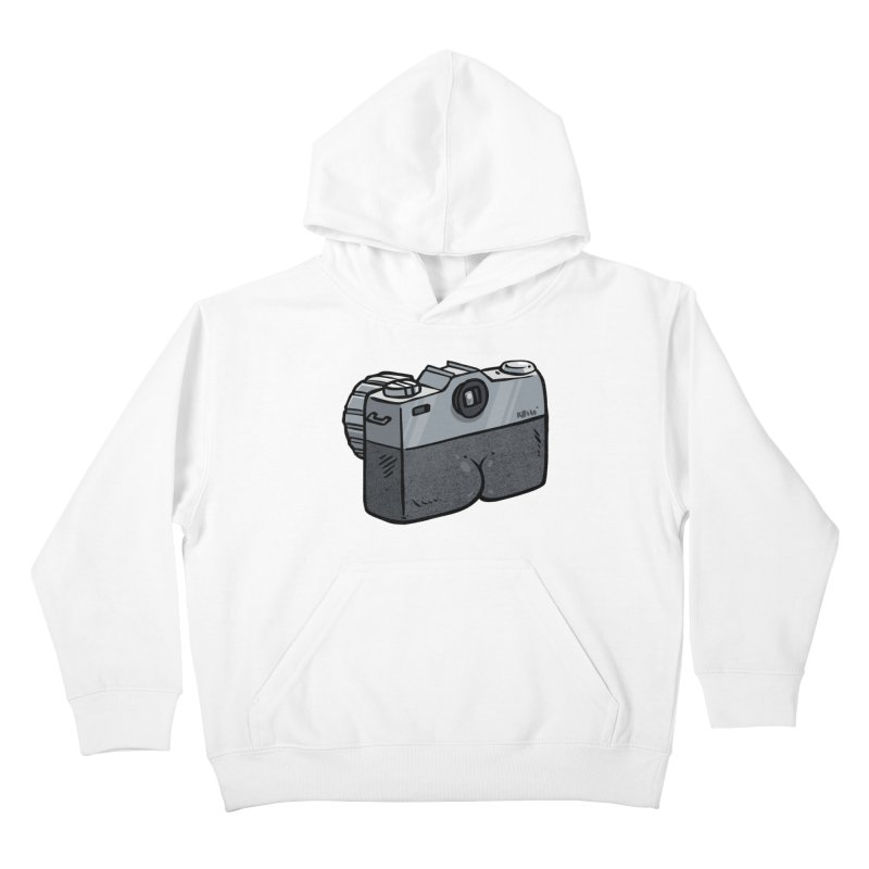 Camera Butt Kids Pullover Hoody by Brian Cook