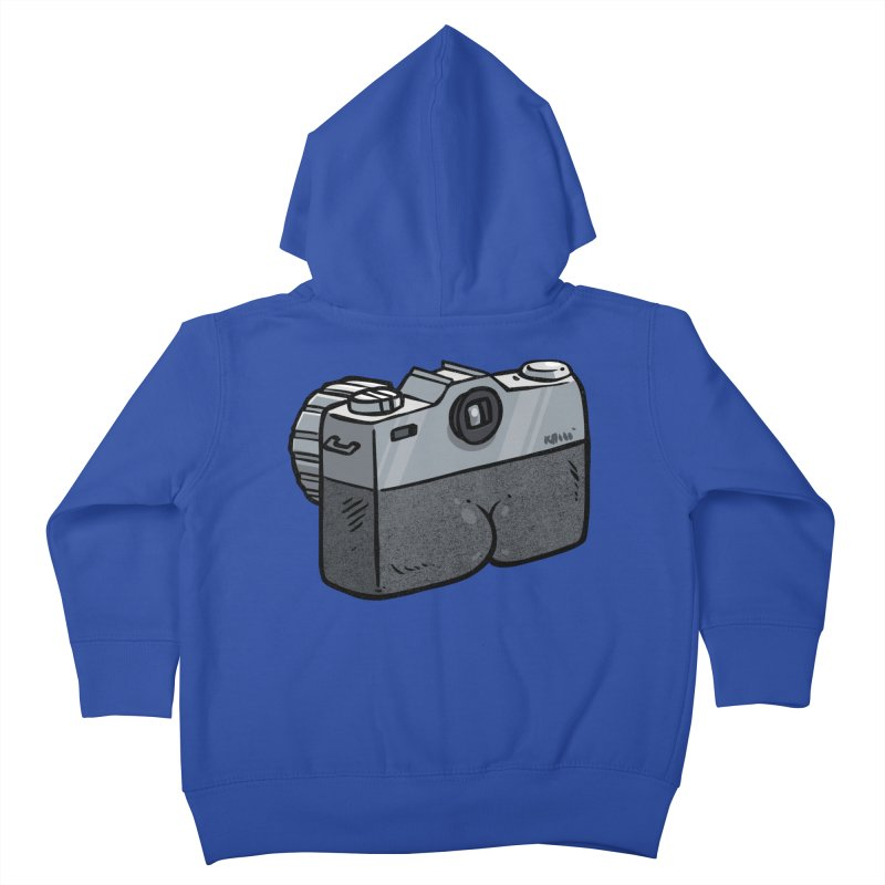 Camera Butt Kids Toddler Zip-Up Hoody by Brian Cook