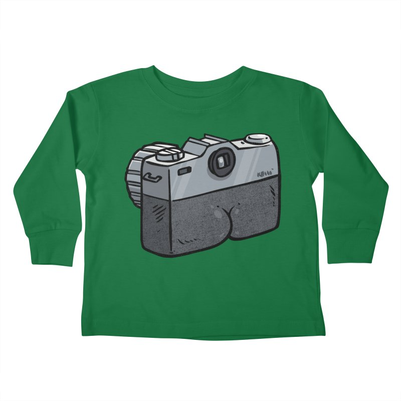 Camera Butt Kids Toddler Longsleeve T-Shirt by Brian Cook