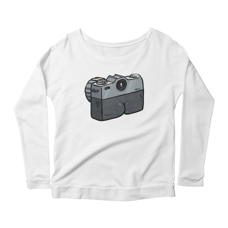 Camera Butt Women's Longsleeve Scoopneck  by Brian Cook