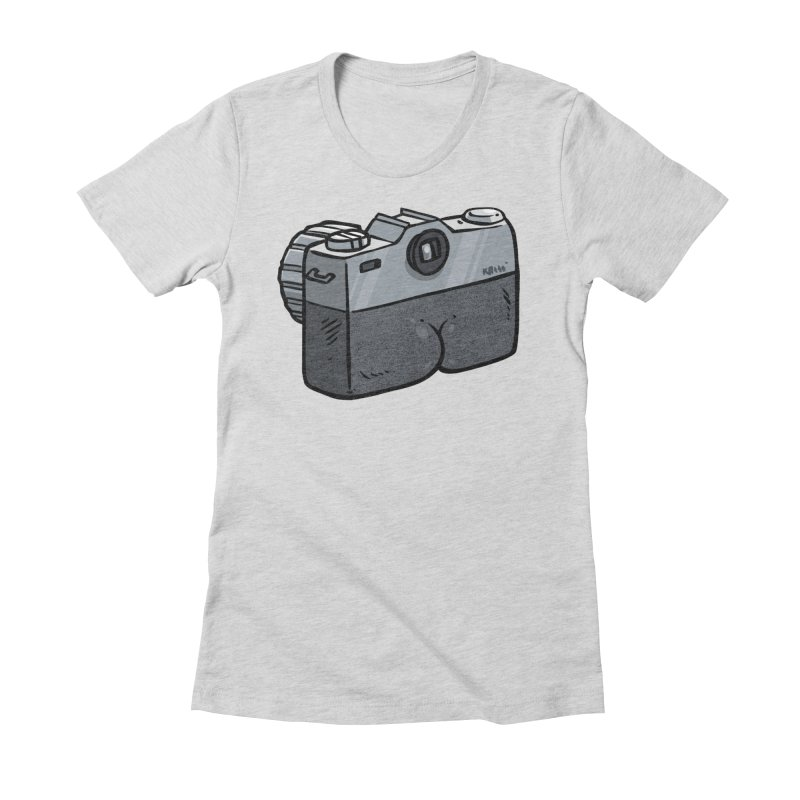 Camera Butt Women's Fitted T-Shirt by Brian Cook