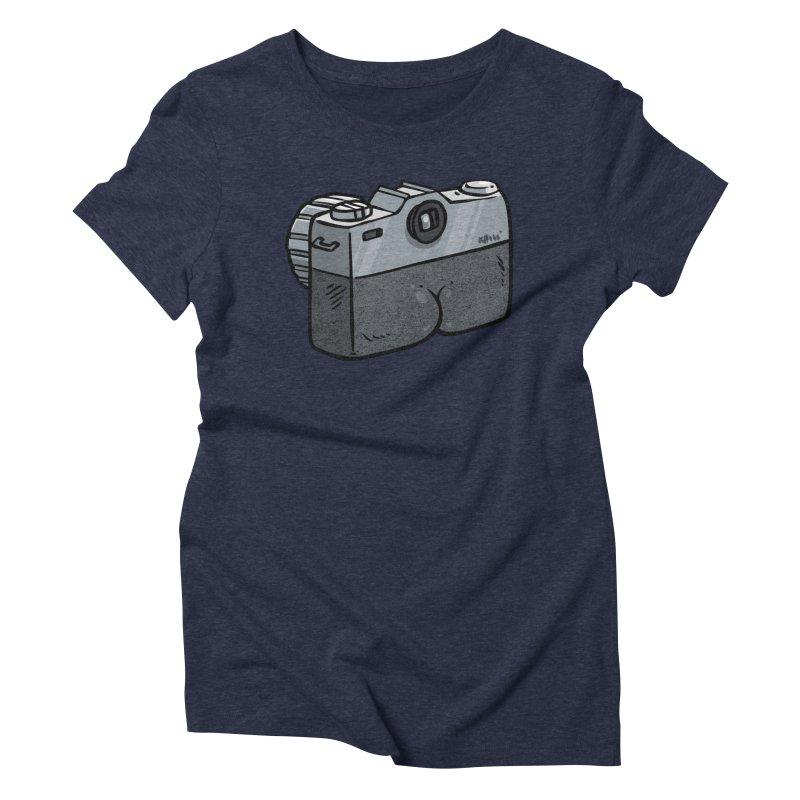 Camera Butt Women's Triblend T-Shirt by Brian Cook