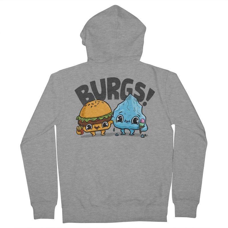 Burgs Bros! Men's Zip-Up Hoody by Brian Cook