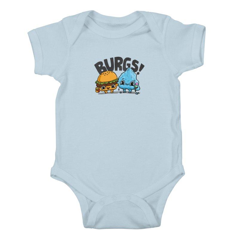 Burgs Bros! Kids Baby Bodysuit by Brian Cook