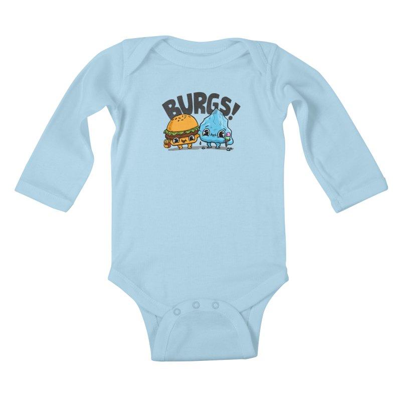 Burgs Bros! Kids Baby Longsleeve Bodysuit by Brian Cook