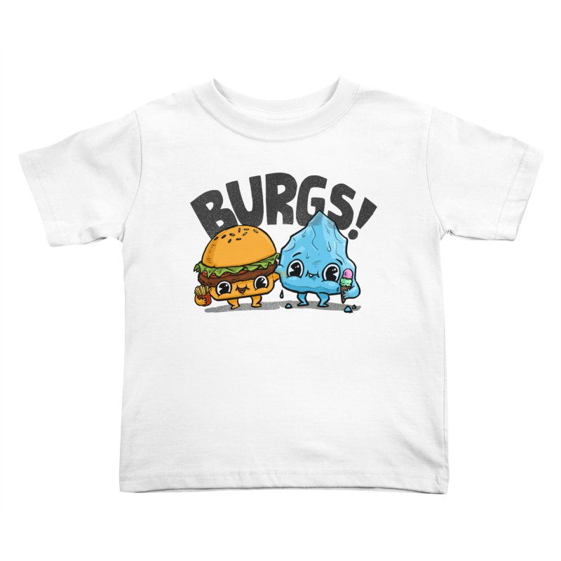 Burgs Bros! Kids Toddler T-Shirt by Brian Cook