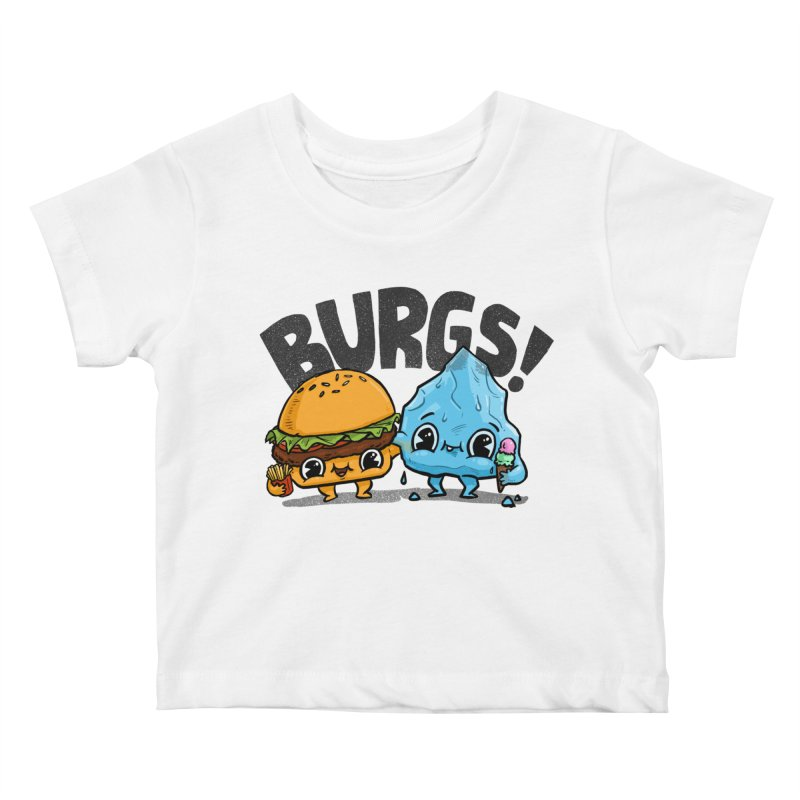 Burgs Bros! Kids Baby T-Shirt by Brian Cook