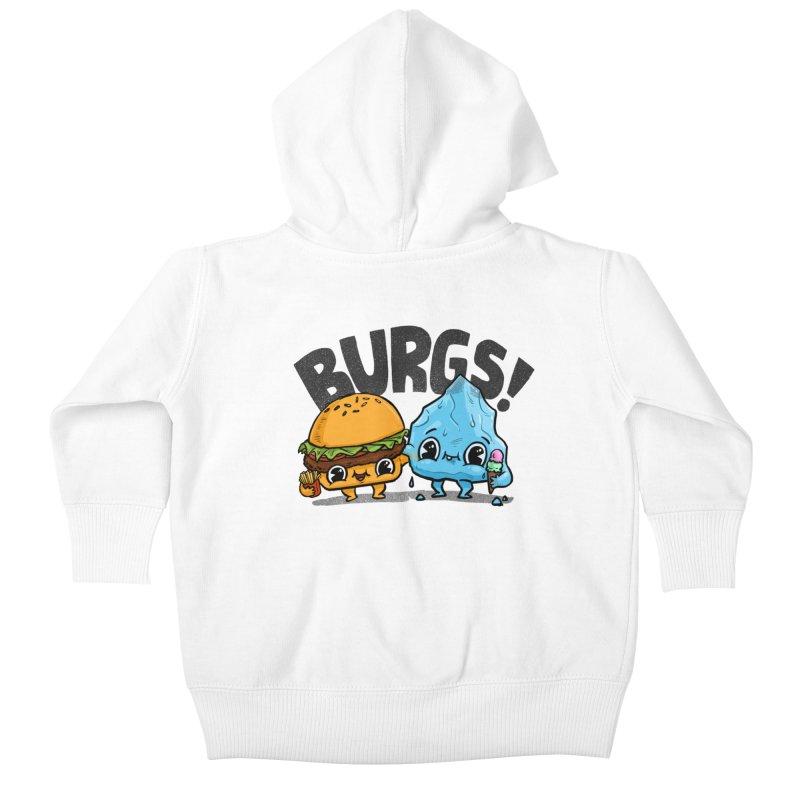 Burgs Bros! Kids Baby Zip-Up Hoody by Brian Cook
