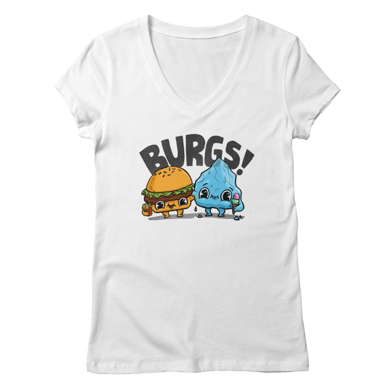 Burgs Bros! Women's V-Neck by Brian Cook