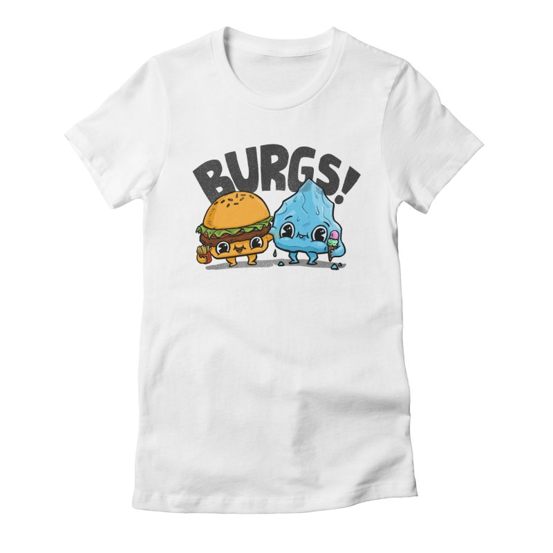 Burgs Bros! Women's Fitted T-Shirt by Brian Cook