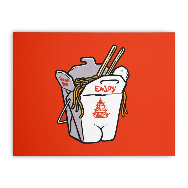 Chinese Take-Out Butt Home Stretched Canvas by Brian Cook