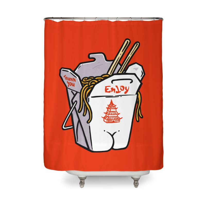 Chinese Take-Out Butt Home Shower Curtain by Brian Cook