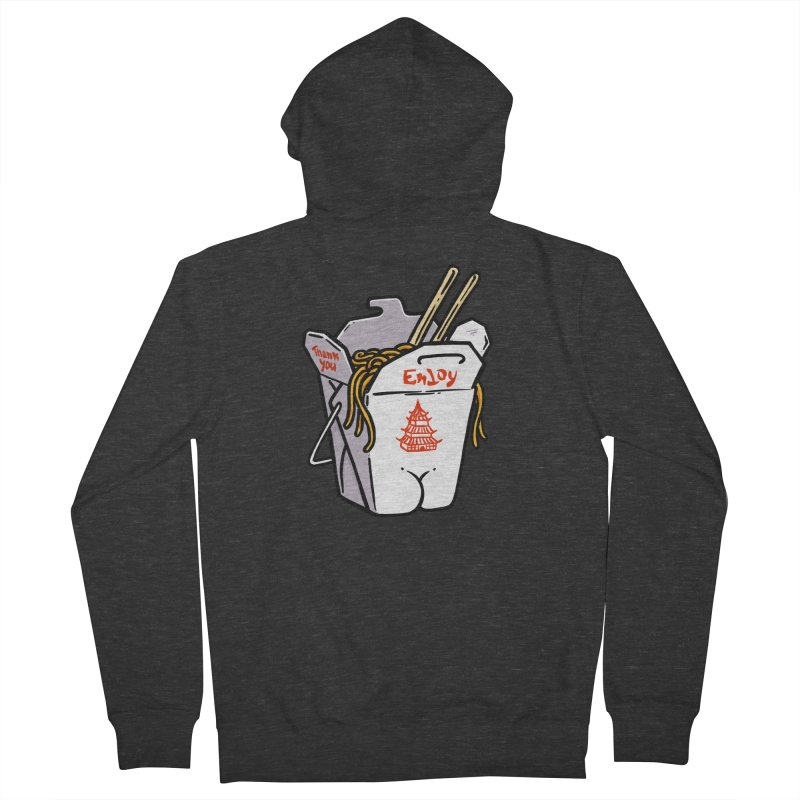 Chinese Take-Out Butt Men's Zip-Up Hoody by Brian Cook