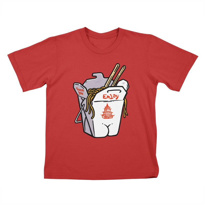 Chinese Take-Out Butt Kids T-Shirt by Brian Cook