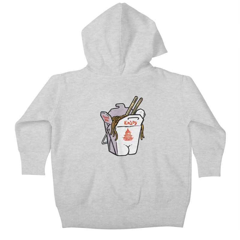 Chinese Take-Out Butt Kids Baby Zip-Up Hoody by Brian Cook