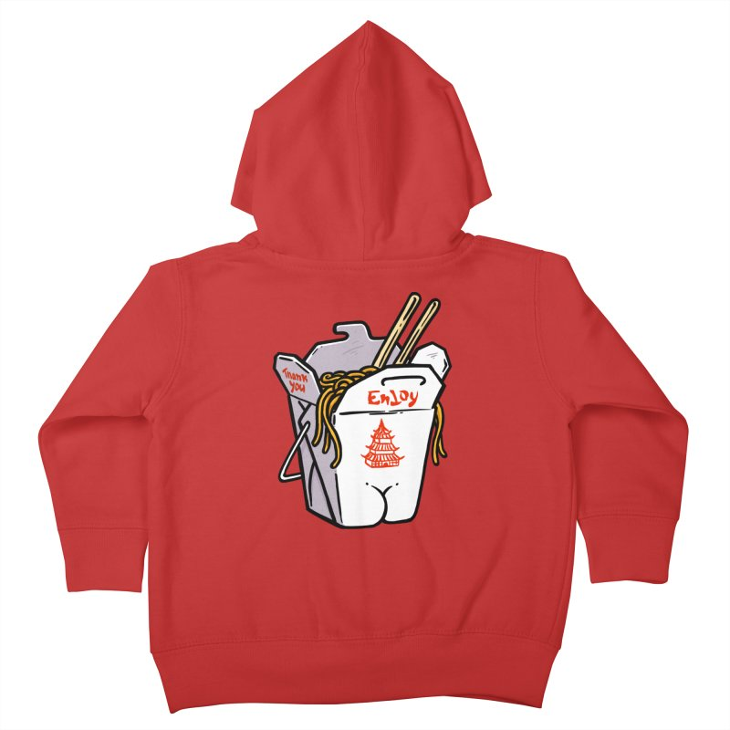 Chinese Take-Out Butt Kids Toddler Zip-Up Hoody by Brian Cook